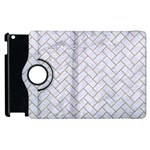 BRICK2 WHITE MARBLE & SAND (R) Apple iPad 2 Flip 360 Case Front