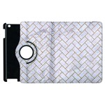 BRICK2 WHITE MARBLE & SAND (R) Apple iPad 3/4 Flip 360 Case Front