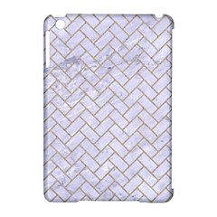Brick2 White Marble & Sand (r) Apple Ipad Mini Hardshell Case (compatible With Smart Cover)