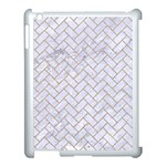 BRICK2 WHITE MARBLE & SAND (R) Apple iPad 3/4 Case (White) Front