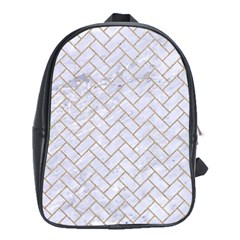 Brick2 White Marble & Sand (r) School Bag (xl)