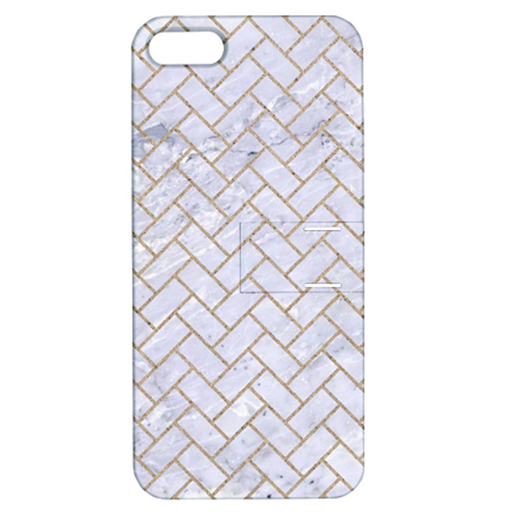 BRICK2 WHITE MARBLE & SAND (R) Apple iPhone 5 Hardshell Case with Stand
