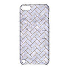 Brick2 White Marble & Sand (r) Apple Ipod Touch 5 Hardshell Case With Stand