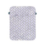 BRICK2 WHITE MARBLE & SAND (R) Apple iPad 2/3/4 Protective Soft Cases Front