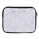 BRICK2 WHITE MARBLE & SAND (R) Apple iPad 2/3/4 Zipper Cases Front
