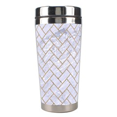 Brick2 White Marble & Sand (r) Stainless Steel Travel Tumblers
