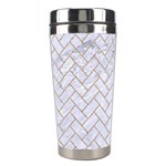 BRICK2 WHITE MARBLE & SAND (R) Stainless Steel Travel Tumblers Left