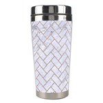 BRICK2 WHITE MARBLE & SAND (R) Stainless Steel Travel Tumblers Center