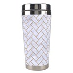 BRICK2 WHITE MARBLE & SAND (R) Stainless Steel Travel Tumblers Right
