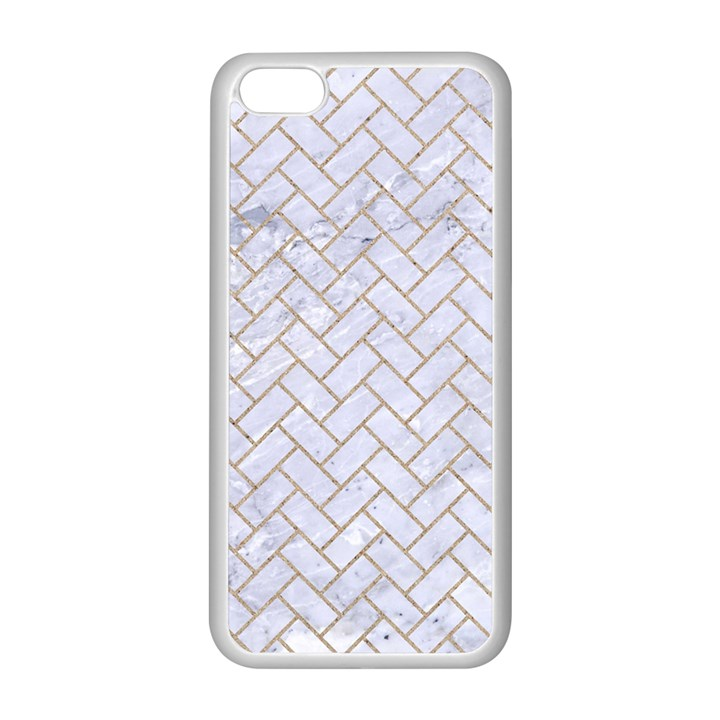 BRICK2 WHITE MARBLE & SAND (R) Apple iPhone 5C Seamless Case (White)