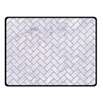 BRICK2 WHITE MARBLE & SAND (R) Double Sided Fleece Blanket (Small)  45 x34 Blanket Back