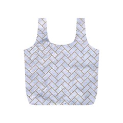 Brick2 White Marble & Sand (r) Full Print Recycle Bags (s)