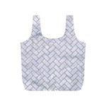 BRICK2 WHITE MARBLE & SAND (R) Full Print Recycle Bags (S)  Front