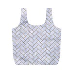 BRICK2 WHITE MARBLE & SAND (R) Full Print Recycle Bags (M)  Front
