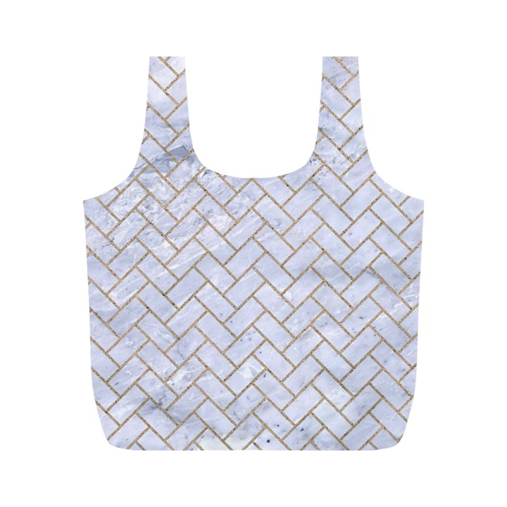 BRICK2 WHITE MARBLE & SAND (R) Full Print Recycle Bags (M)