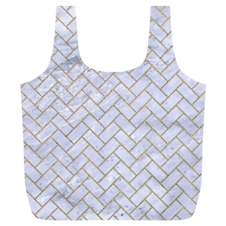 BRICK2 WHITE MARBLE & SAND (R) Full Print Recycle Bags (L)