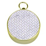BRICK2 WHITE MARBLE & SAND (R) Gold Compasses Front