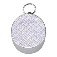 Brick2 White Marble & Sand (r) Mini Silver Compasses