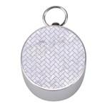 BRICK2 WHITE MARBLE & SAND (R) Mini Silver Compasses Front