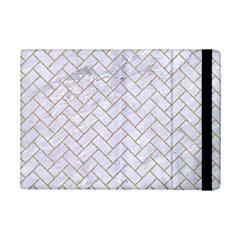 Brick2 White Marble & Sand (r) Ipad Mini 2 Flip Cases