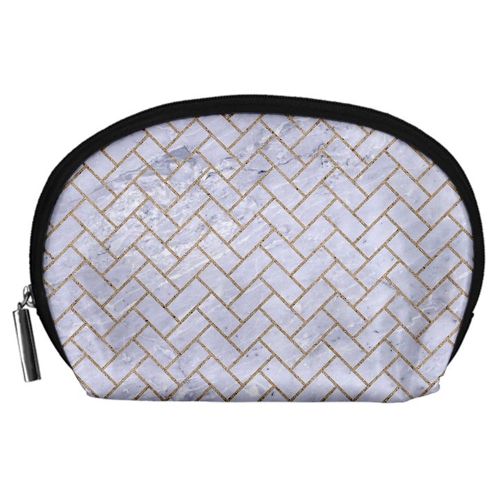 BRICK2 WHITE MARBLE & SAND (R) Accessory Pouches (Large)