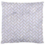 BRICK2 WHITE MARBLE & SAND (R) Large Flano Cushion Case (One Side) Front