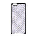 BRICK2 WHITE MARBLE & SAND (R) Apple iPhone 6/6S Black Enamel Case Front