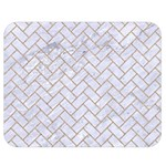 BRICK2 WHITE MARBLE & SAND (R) Double Sided Flano Blanket (Medium)  60 x50 Blanket Front