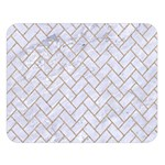 BRICK2 WHITE MARBLE & SAND (R) Double Sided Flano Blanket (Large)  80 x60 Blanket Front