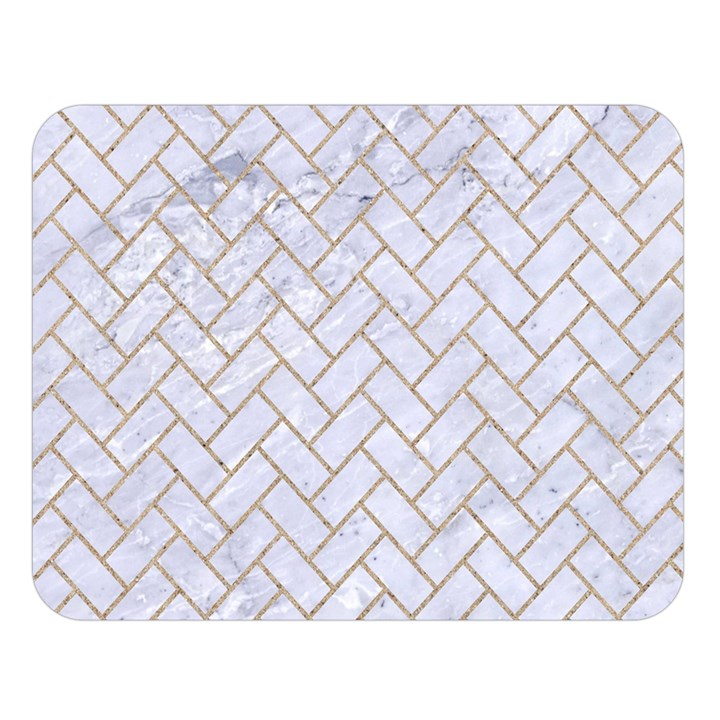 BRICK2 WHITE MARBLE & SAND (R) Double Sided Flano Blanket (Large)