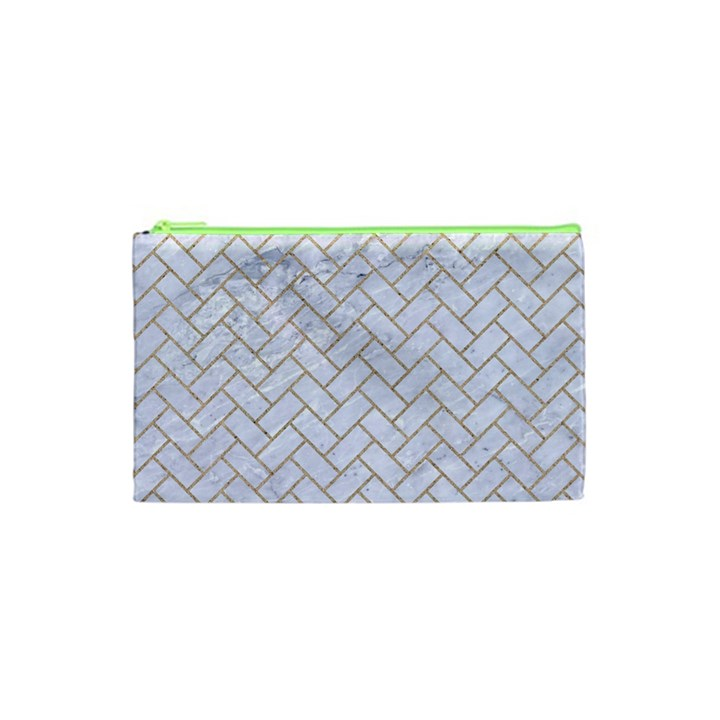 BRICK2 WHITE MARBLE & SAND (R) Cosmetic Bag (XS)