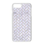 BRICK2 WHITE MARBLE & SAND (R) Apple iPhone 7 Plus Seamless Case (White) Front