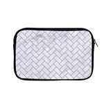 BRICK2 WHITE MARBLE & SAND (R) Apple MacBook Pro 13  Zipper Case Front
