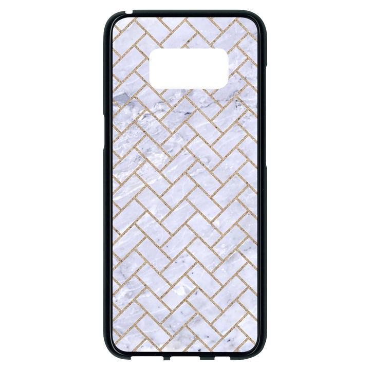 BRICK2 WHITE MARBLE & SAND (R) Samsung Galaxy S8 Black Seamless Case