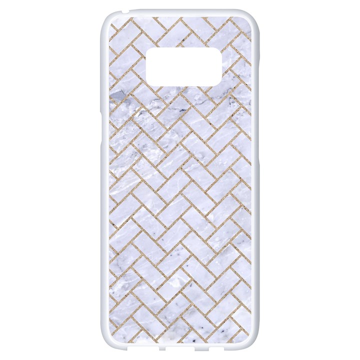 BRICK2 WHITE MARBLE & SAND (R) Samsung Galaxy S8 White Seamless Case