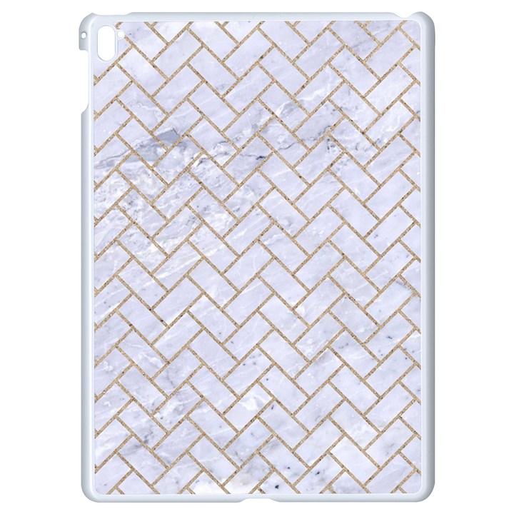 BRICK2 WHITE MARBLE & SAND (R) Apple iPad Pro 9.7   White Seamless Case
