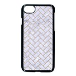 BRICK2 WHITE MARBLE & SAND (R) Apple iPhone 8 Seamless Case (Black) Front