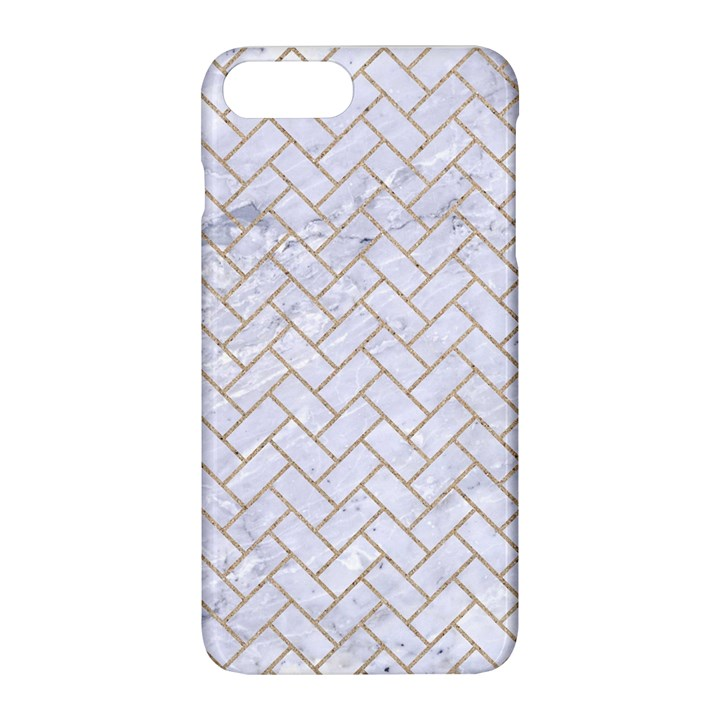 BRICK2 WHITE MARBLE & SAND (R) Apple iPhone 8 Plus Hardshell Case