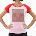 BRICK2 WHITE MARBLE & SAND Women s Cap Sleeve T-Shirt Front