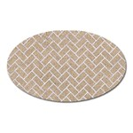 BRICK2 WHITE MARBLE & SAND Oval Magnet Front