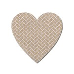 BRICK2 WHITE MARBLE & SAND Heart Magnet Front