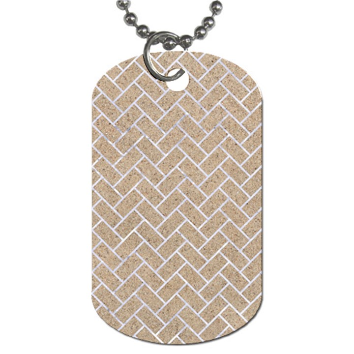 BRICK2 WHITE MARBLE & SAND Dog Tag (Two Sides)