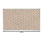 BRICK2 WHITE MARBLE & SAND Business Card Holders Front
