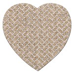 BRICK2 WHITE MARBLE & SAND Jigsaw Puzzle (Heart) Front