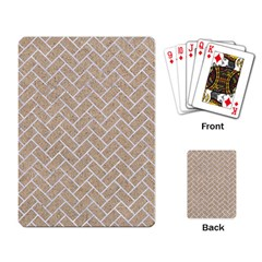 Brick2 White Marble & Sand Playing Card