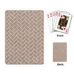 BRICK2 WHITE MARBLE & SAND Playing Card Back