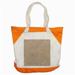 BRICK2 WHITE MARBLE & SAND Accent Tote Bag Front