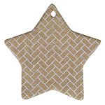 BRICK2 WHITE MARBLE & SAND Star Ornament (Two Sides) Back