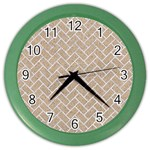 BRICK2 WHITE MARBLE & SAND Color Wall Clocks Front