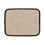 BRICK2 WHITE MARBLE & SAND Netbook Case (Small)  Front